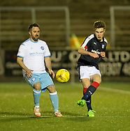 Dundee's Matty Smyth and Forfar's Cahrlie King - Forfar Athletic v Dundee, Martyn Fotheringham testimonial at Station Park, Forfar.Photo: David Young<br /> <br />  - &copy; David Young - www.davidyoungphoto.co.uk - email: davidyoungphoto@gmail.com