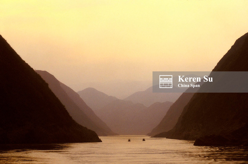 Landscape of Three Gorges, Yangtze River, China