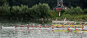 Ottensheim, AUSTRIA.  A  Final,  LM8+  at the 2008 FISA Senior and Junior Rowing Championships,  Linz/Ottensheim. Sunday,  27/07/2008.  [Mandatory Credit: Peter SPURRIER, Intersport Images] Rowing Course: Linz/ Ottensheim, Austria