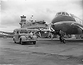 1958 - Belvedere Ambulance with Viscount at Dublin Airport