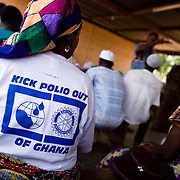 Volunteers at a training session preceding a national polio immunization at the Nyankpala health center in the town of Nyankpala, Ghana on Tuesday March 24, 2009.