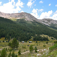 USA: Colorado: Pitkin County: The historic ghost town of Independence serves as a remnant of past mining days.