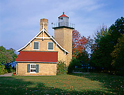 BB08216-00...WISCONSIN - Eagle Bluff Lighthouse in Peninsula State Park in Door County.