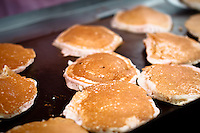 We went to an official Stampede Caravan Pancake Breakfast with Grandma and Grandpa.  Real flapjacks with real blueberries!  Yumm...©2010, Sean Phillips.http://www.RiverwoodPhotography.com