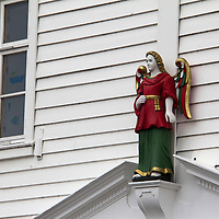 Europe, Norway, Bergen. Architectural Detail in Bryggen, a UNESCO World Heritage Site.