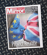 British newspaper Daily Mirror front page on the day after the EU Referendum, London, UK - 24 Jun 2016