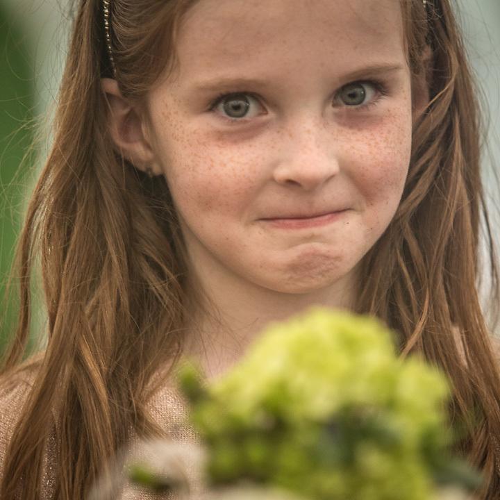 Young girl at the wedding of Alexa and Niall McInerny, Talkeetna, Alaska