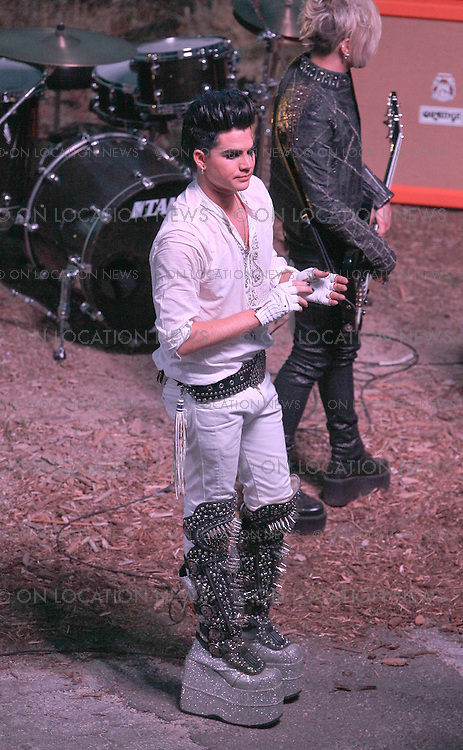 """May 13th 2010. Los Angeles, California. ***EXCLUSIVE*** Adam Lambert and his band filming a music video for """"If I Had You"""" in Griffith Park. Photo by Eric Ford/ On Location News. 818-613-3955 info@onlocationnews.com"""