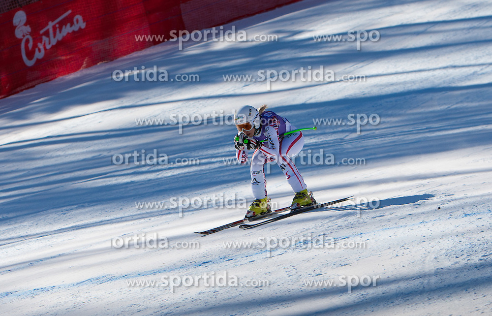 13.01.2012, Pista Olympia delle Tofane, Cortina, ITA, FIS Weltcup Ski Alpin, Damen, Abfahrt, 2. Training, im Bild Regina Mader (AUT) // Regina Mader of Austria during ladies downhill 2nd training of FIS Ski Alpine World Cup at 'Pista Olympia delle Tofane' course in Cortina, Italy on 2012/01/13. EXPA Pictures © 2012, PhotoCredit: EXPA/ Johann Groder
