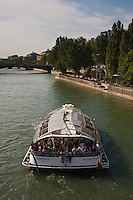 seine river Paris France in Spring time of May 2008