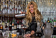 Mariena Mercer is a bartender at the Chandelier Bar in the Cosmopolitan on Tuesday, October 7, 2014. L.E. Baskow