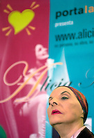 Alicia Alonzo, Prima balerina cubana y Directora de la compania cubana de ballet, ofrece una conferencia de  prensa sobre la participacion de dicha compania en la XVI Feria Internacional del Libro de Guadalajara, a celebrarse en Mexico desde el 30 de Noviembre, 16 de Octubre del 2002, la Habana, Cuba, (Photo/Cristobal Herrera)