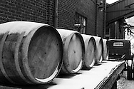 The Distillery District in Toronto is a very popular place for photographers. The many vintage aspects of the area make it very picturesque. I particularly liked the symmetrical view of these old wine/whiskey barrels lightly dusted with snow.