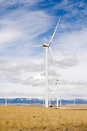 Judith Gap Wind Farm, private enterprise, business, south of Judith Gap, Montana