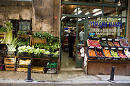 A traditional grocer, Galata, Istanbul, Turkey