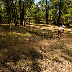 Sweet relief comes in the form of descent for a racer on the Smokin' Handlebar trail.