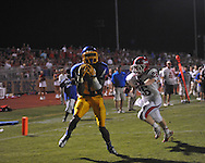 Oxford High's D.K. Metcalf (14) makes a touchdown catch with 1:52 remaining in the 4th quarter vs. Jackson Prep's Zach Williams (26) in Oxford, Miss. on Friday, August 23, 2013. Oxford won 32-20.