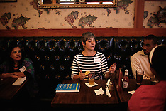 New York: The 405 Club, a club for unemployed people, June 2009