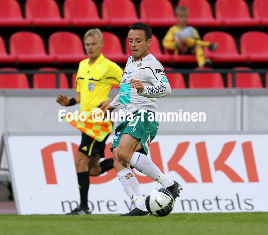 08.08.2010, Ratina, Tampere..Veikkausliiga 2010, Tampere United - IFK Mariehamn..Ante Simunac - IFM Mhamn.©Juha Tamminen.