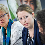 20160616 - Brussels , Belgium - 2016 June 16th - European Development Days - Promoting young people as peacebuilders  - Malgorzata Wasilewska , Head of Division Conflict Prevention , Peacebuilding and Mediation Instruments , European External Action Service and Sonya Reines-Djivanides , Executive Director , European Peacebuilding Liaison Office - Moderator © European Union