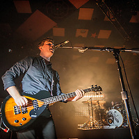 Mike Kerr and Ben Thatcher of Royal Blood performs on stage at the Barrowlands on February 23, 2015 in Glasgow. (Photo by Ross Gilmore