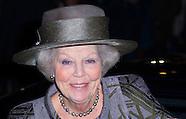 23-1-2015 AMSTERDAM - Prinses Beatrix der Nederlanden woont zaterdagmiddag 23 januari 2016 de premiè