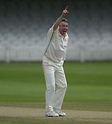 Photo Peter Spurrier.01/09/2002.Village Cricket Final - Lords.Elvaston C.C. vs Shipton-Under-Wychwood C.C..Shipton's Phil Garner appeals for LBW