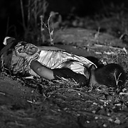 A man with hands bound behind his back and killed execution style on  the banks of a river in Culiacan, Sinaloa, Mexico the cradle of many of the drug cartels and their leaders in Mexico..(Credit Image: © Louie Palu/ZUMA Press)