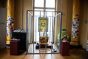 Ukrainski Swiat (Ukrainian World) museum and community center. An anti-Putin installation.