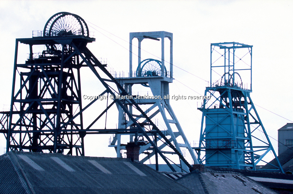 Triple headgear at Ackton Hall Colliery, Featherstone, North Yorkshire Area National Coal Board.