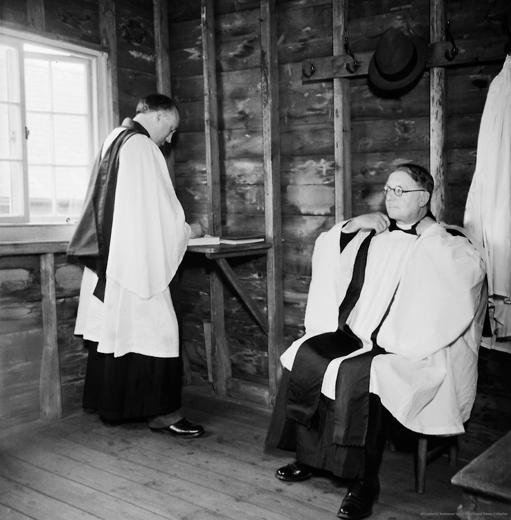 In the Vestry, Old Mill Church, Reigate, 1937
