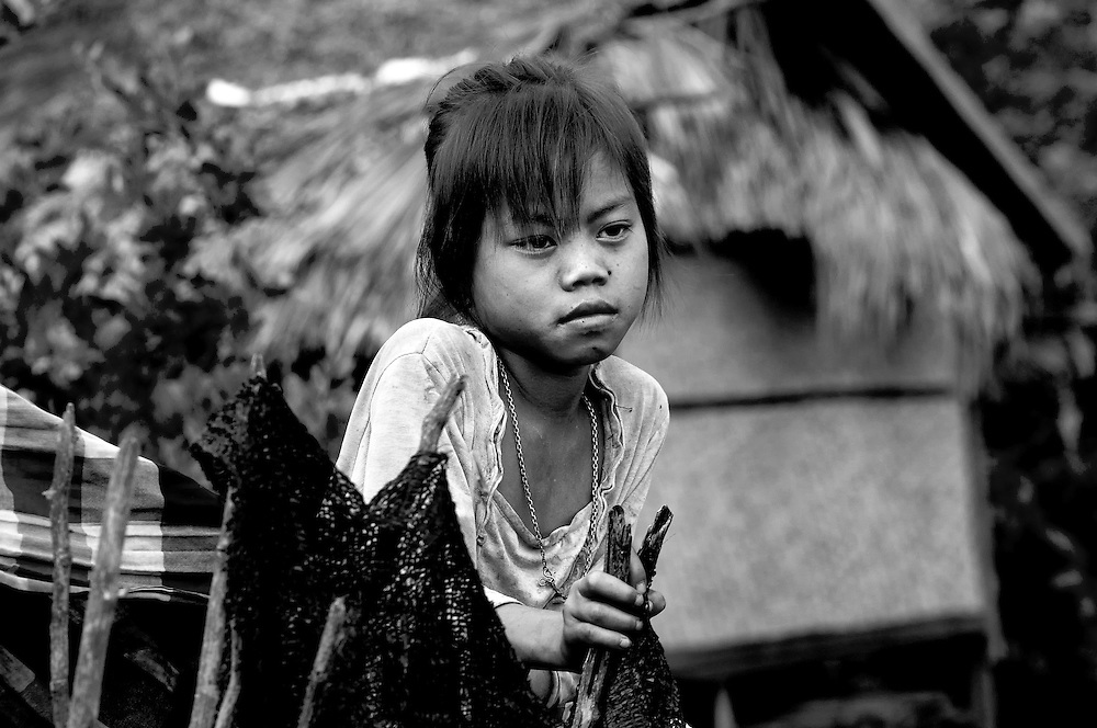 A girl from the coffee growing district on the Bolaven Plateau, Laos.