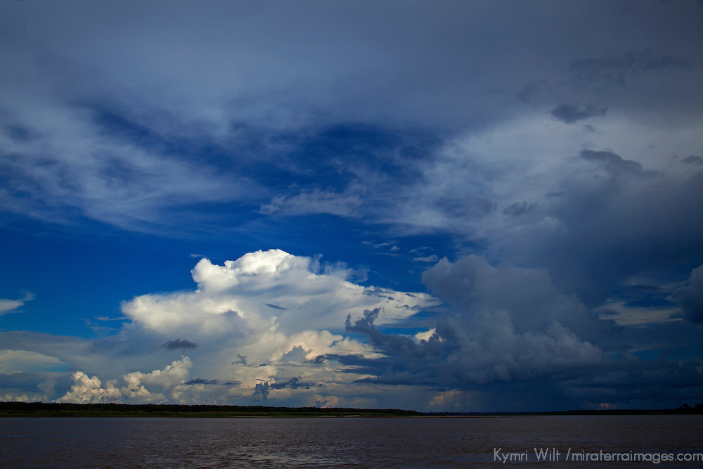 South America, Peru, Amazon. Clouds of the Amazon.