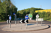 The A40 , A436 roundabout at Seven Springs, Gloucestershire