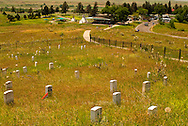 Little Bighorn Battlefield National Monument, Montana, Last Stand Hill, Custer marker, Visitor Center