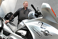 UK. London. Alan Vann, a Driver for Addison Lee which offers a limousine service for businessmen in London..Photograph shows Alan with his bike..Photo©Steve Forrest/Insight-Visual for The New York Times .Tel: +44 (07977 470 974.steve@insight-visual.com