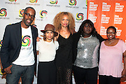25 August New York, NY- l to r: Gregory Gates, Executive Producer, Imagenation, Actress Zoe Kravitz, Director  Victoria Mahoney, and Actress Gabourey Sidibe and Moikgansto Kgama, Founder Imagenation Cinema Foundation at the Imagenation Cinema Foundation Screening of '  Yelling to the Sky ' presented by the Imagenation Cinema Foundation and The Film Society of Lincoln Center held at the Walter Reade Theater at Lincoln Center on August 25, 2011 in New York, NY. Photo Credit: Terrence Jennings