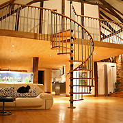 open stair case and mezzanine