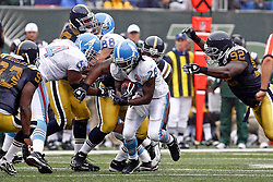 Sept 27, 2009; East Rutherford, NJ, USA; Tennessee Titans running back Chris Johnson (28) rushes the ball during the first half of their game against the New York Jets at Giants Stadium.