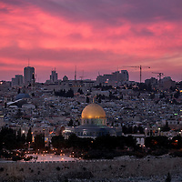 **FILE**General view of the Mosque of Omar and the ciy center of Jerusalem.<br /> Photo by Olivier Fitoussi
