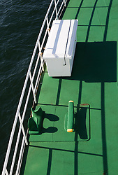 deck of a Ferry Boat at sea