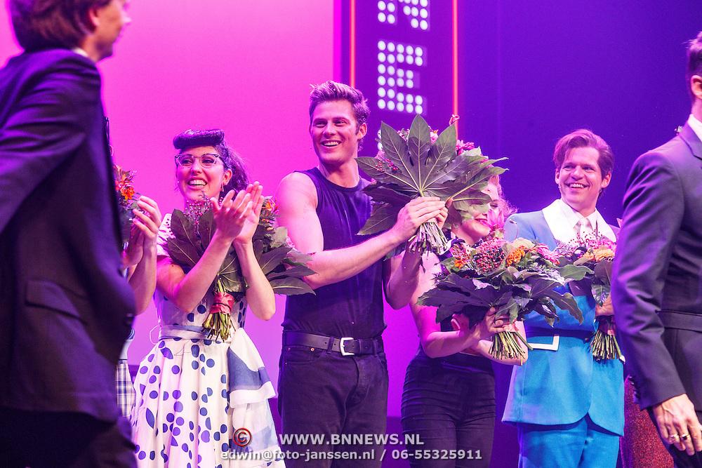NLD/Tilburg/20150913 - Premiere musical Grease, tim Douwsma en vajen van den Bosch