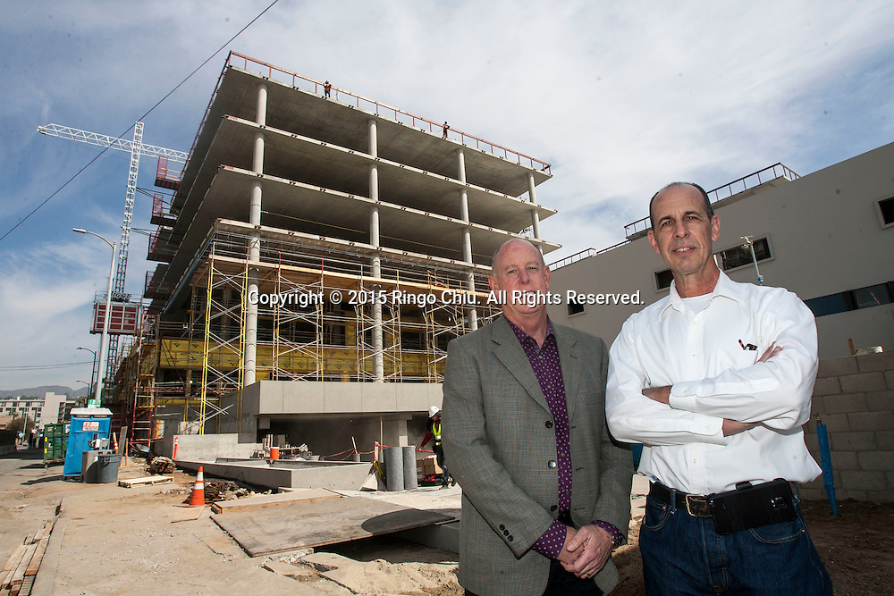James House, left, and Doug Robertson, co-principals of architecture firm House &amp; Robertson Architects Inc.<br /> (Photo by Ringo Chiu)