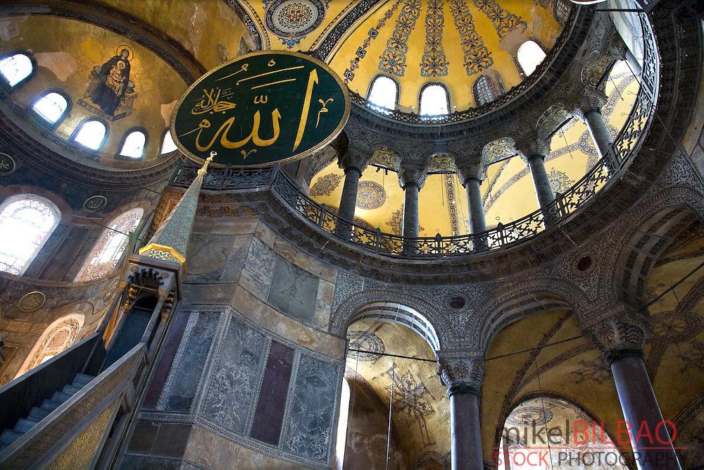 Hagia Sophia. Interior view. Istanbul, Turkey
