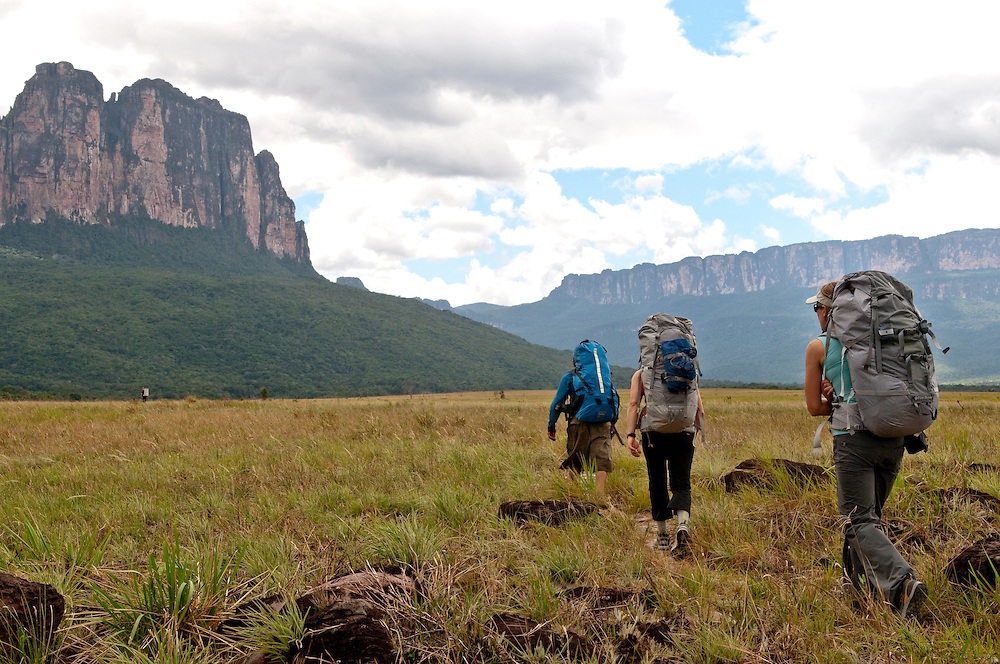 Acopan Tepui, with Jonathan Thesenga, Brittany Griffith, and Kate Rutherford.