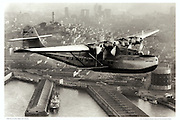 Pan Am China Clipper, aerial