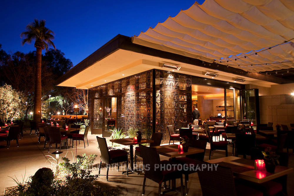 Eight months out of the year, Arizona diners can enjoy outdoor patios like the one at Frank and Albert's at the historic Arizona Biltmore Resort and Spa in Phoenix, Arizona.