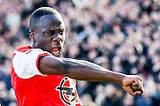 ROTTERDAM  - Feyenoord - PSV , eredivisie , voetbal , Feyenoord stadion de Kuip , seizoen 2014/2015 , 22-03-2015 , eindstand 2-1 , Feyenoord speler Elvis Manu viert de 1-0