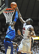 "Kentucky's Nerlens Noel (3) defends against Mississippi's Reginald Buckner (23) at the C.M. ""Tad"" Smith Coliseum on Tuesday, January 29, 2013. Noel had a school record 12 blocks as Kentucky won 87-74. (AP Photo/Oxford Eagle, Bruce Newman).."