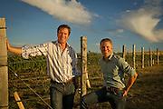 Drew Bledsoe & Chris Figgins, Doubleback vineyard, Walla Walla, Washington